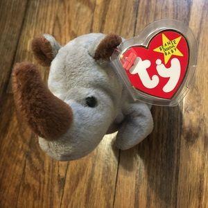 TY Beanie Baby Spike The Rhino 1996